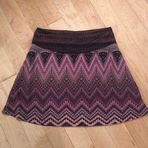 Prana Printed Skater Skirt Size small